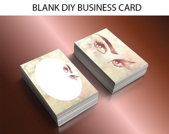 DIY lashes extension business card,makeup artist business card, DIY business card template, makeup branding, business cards downloads, bc002