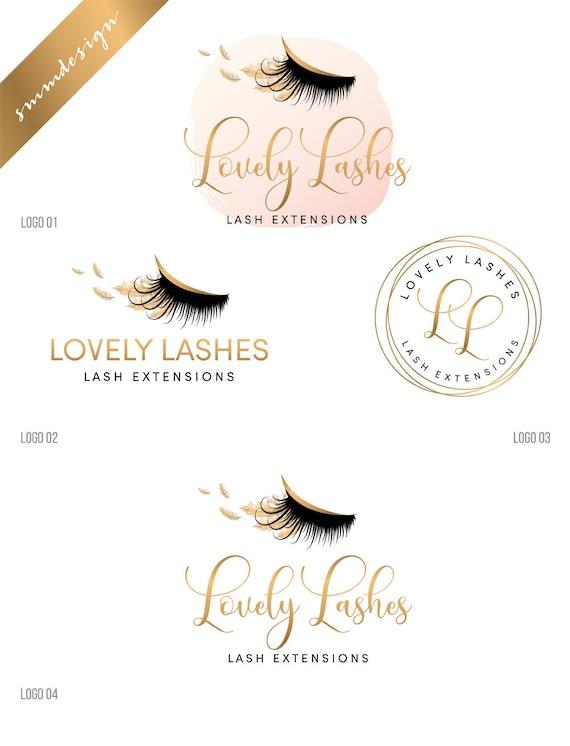 7aa8b5f5a3b Lash Extension Business Cards Luxury Eyelash Logo Lash Artist Logo Lash  Logo Rose Gold Logo Makeup