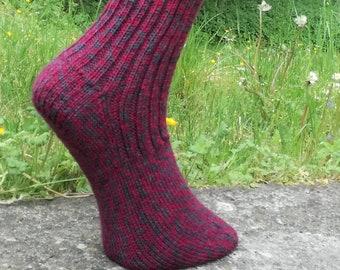 56b7b17e15052 Hand knitted socks, knit socks, wool socks, warm socks, winter socks, Gr.  38/39