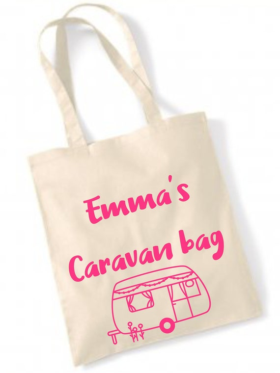 PERSONALISED YOUR OWN STICK FAMILY TOTE SHOPPER SHOPPING BAG