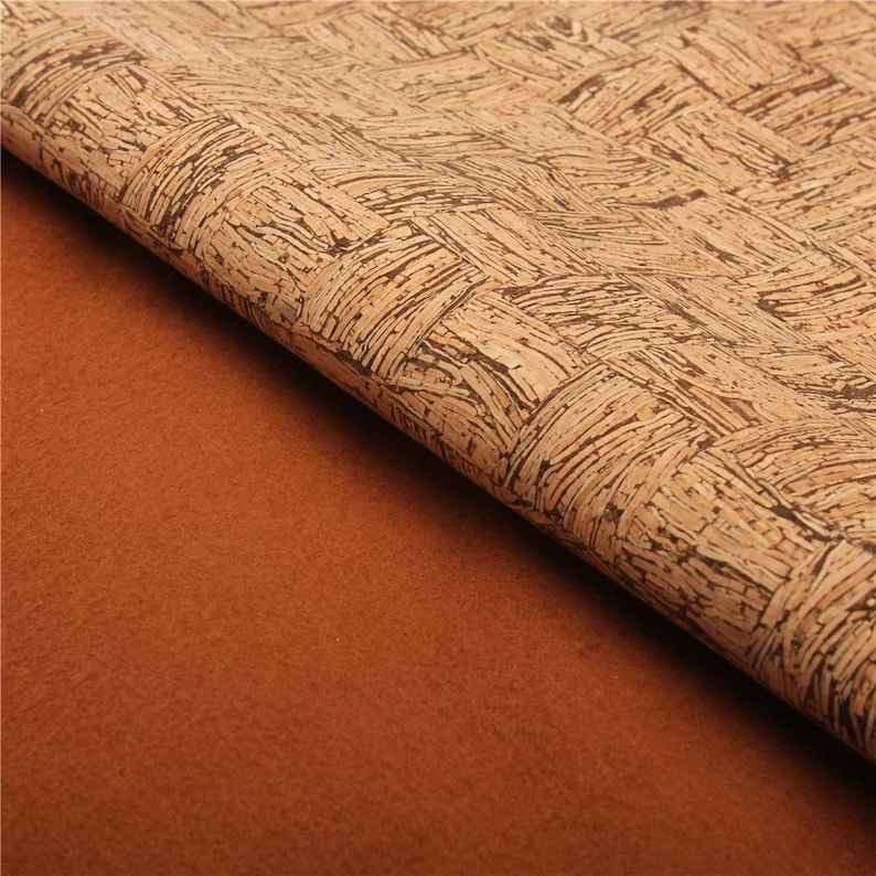 suitable for stitching and sewing COF 138 Big sheet natural cork fabric leather alternative Portuguese cork Cork Fabric vegan