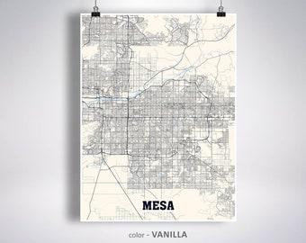 Mesa az city map | Etsy