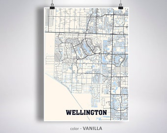 Map Of Wellington Florida.Wellington Florida Etsy