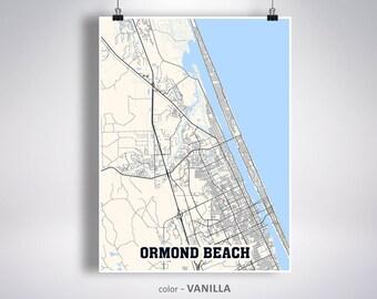 Ormond beach map | Etsy