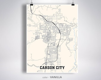 Carson city map | Etsy on