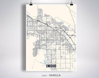 Indio ca print city | Etsy