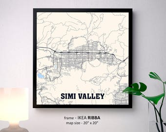 simi valley ca map