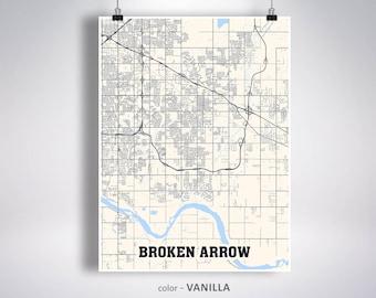 Broken arrow map | Etsy