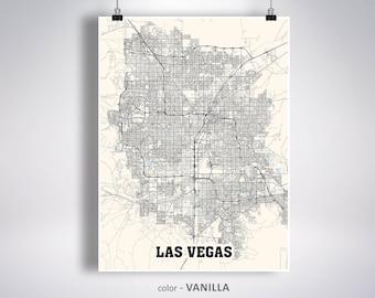 Las vegas nv map | Etsy