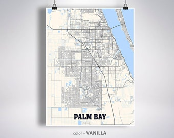 Map Of Palm Bay Florida.Palm Bay Fl Etsy