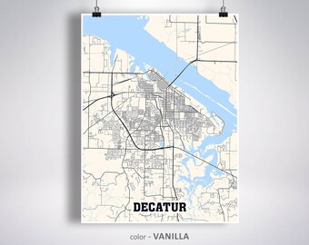 Decatur map | Etsy