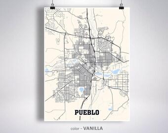 Pueblo map   Etsy