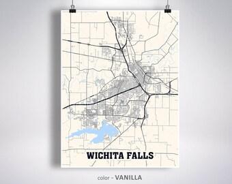 Cedar Falls Map Print Cedar Falls City Map Iowa IA USA Map