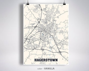 Hagerstown map | Etsy on