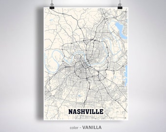 Nashville map | Etsy on