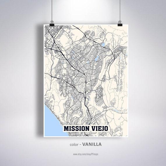 California Minimalist Mission Viejo Map Mission Viejo Map Print Mission Viejo City Modern Map Poster Mission Viejo CA Map Mission Viejo