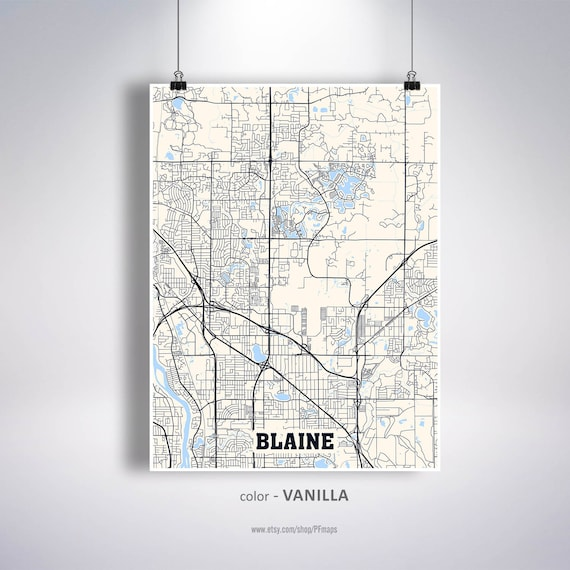Blaine Map Print Blaine City Map Minnesota MN USA Map | Etsy