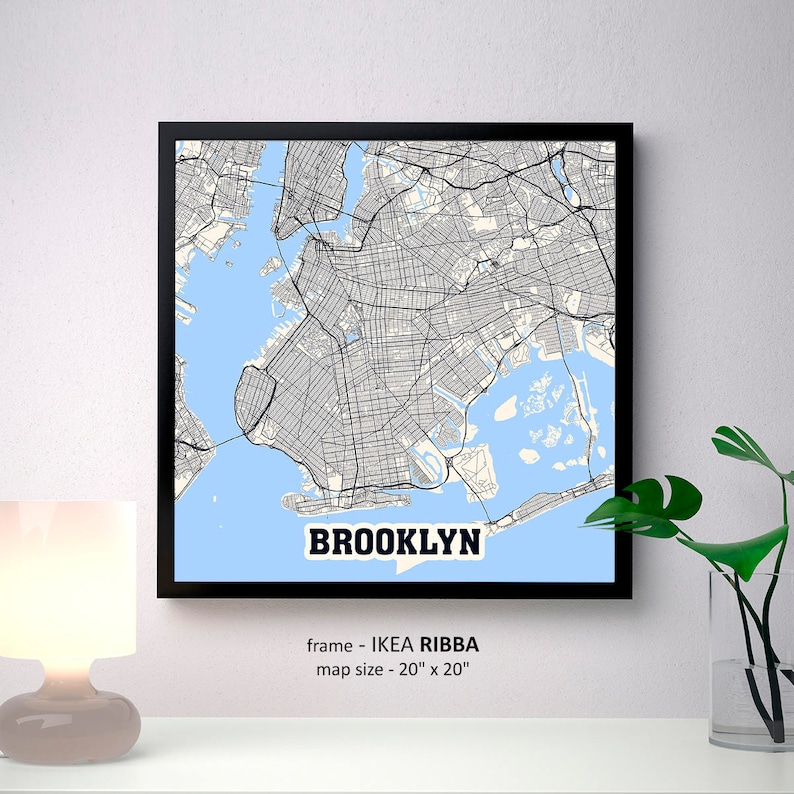 Brooklyn New York Map Print, Brooklyn Square Map Poster, Brooklyn Wall on ikea america, ikea logo, prospect park map, ikea radios, ikea robinson town centre, taxi manhattan map, new jersey transit route map, r train nyc subway map, ikea pittsburgh directions, new york city subway train map, east atlanta map,