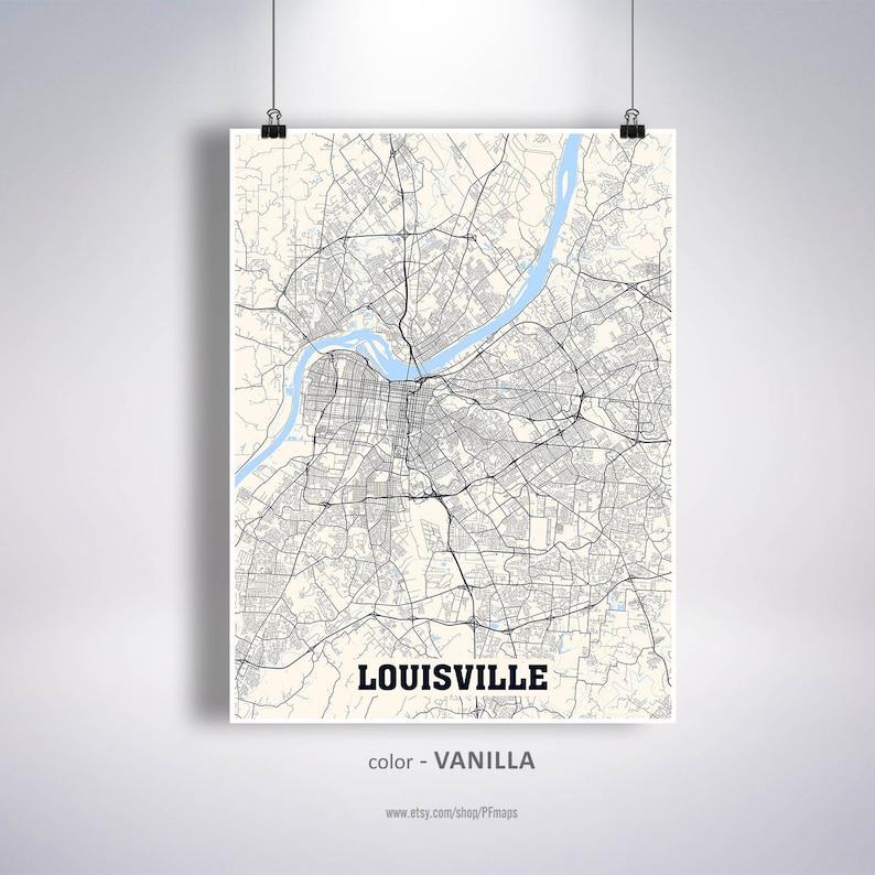 Louisville Map Print, Louisville City Map, Kentucky KY USA Map Poster, on kentucky cities, kentucky on world map, kentucky maps online, kentucky border, kentucky state map,