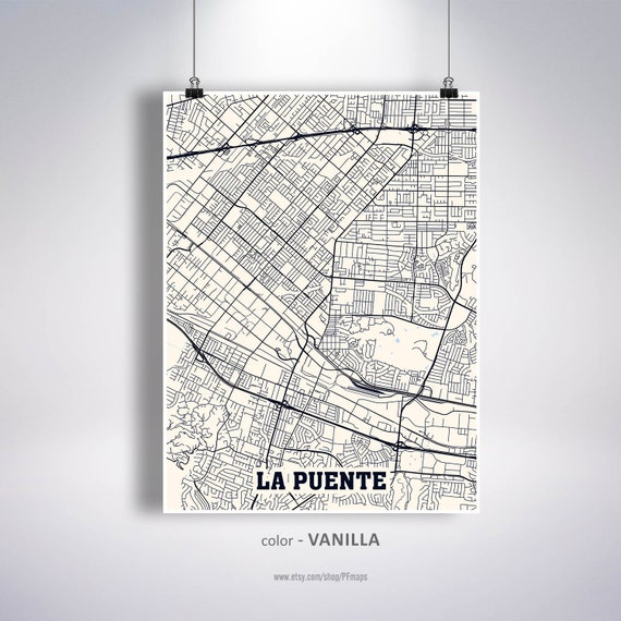 La Puente Map Print, La Puente City Map, California CA USA Map Poster, on california on world map, california on map of north america, california counties map, california cities map, california maps with it on, california on europe map,
