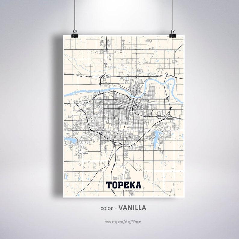Topeka Map Print, Topeka City Map, Kansas KS USA Map Poster, Topeka on usa map in miami, statue of liberty in kansas, usa map kansas city, zip code map in kansas, animals in kansas, dinosaurs in kansas, weather in kansas,