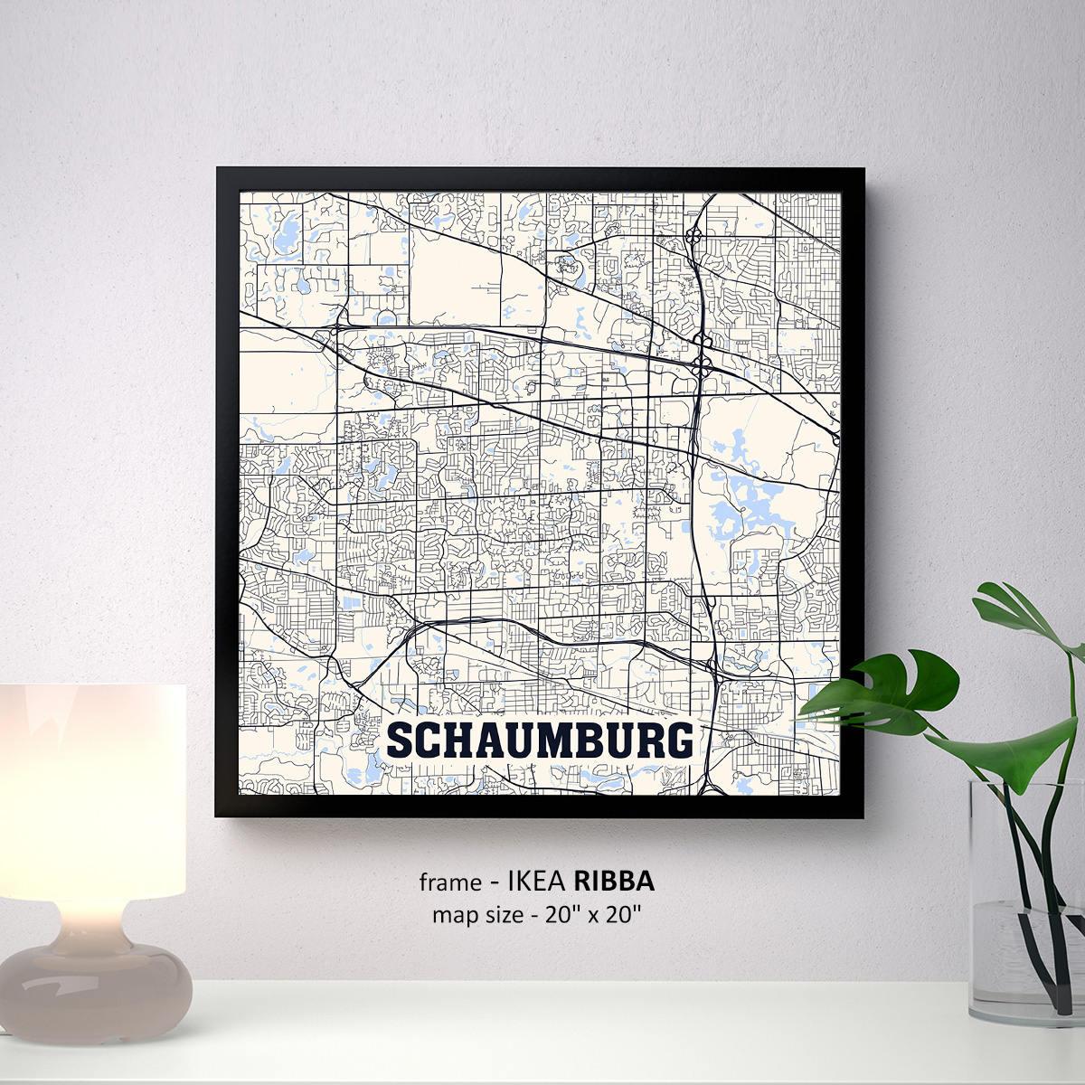 Schaumburg Illinois Karte drucken Schaumburg Platz Karte
