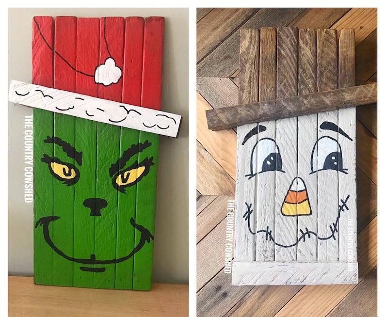 Hand Painted  Jack Skellington Nightmare before Christmas Reversible Yard Art