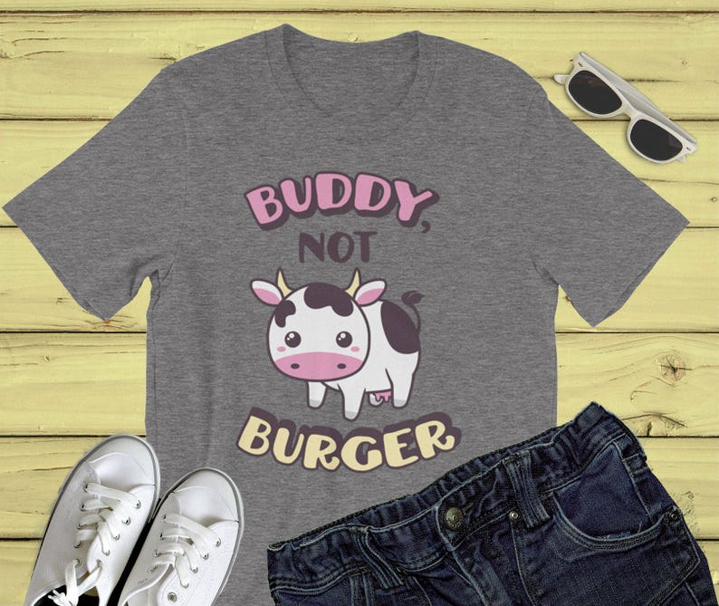 bd93a26ada3b3f Vegane Shirt Buddy nicht Burger Tier Rechte Kuh Hemd Freunde