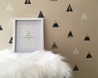 Mountain Wall Decals/ Wall Stickers/ Mountain Wall Stickers/ Mountains Pattern/ Vinyl Decal/ Wall Decal/ Mountains/ Nursery/ FREE SHIPPING