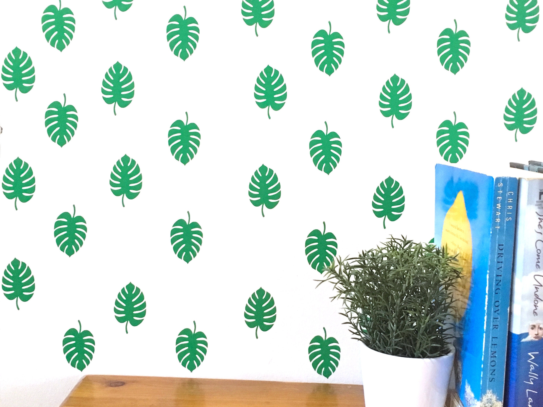 Tropisches Blatt Decals / Blatt Aufkleber / Vinyl Wandtattoo / | Etsy