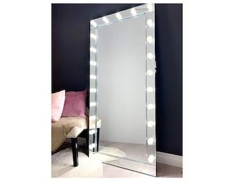 Impressions Vanity Hollywood Glow Lite Full Length Mirror Etsy