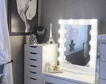 Impressions Vanity Hollywood Vanity Mirror With Lights Large Makeup Vanity  Mirror With Dimmer Lights Iconic XL Makeup Vanity Mirror