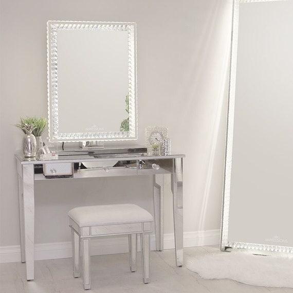 Impressions Vanity Makeup Vanity Mirror with Lights Diamond Collection Princess Premium Rectangular Mirror with Lights Hollywood Mirror