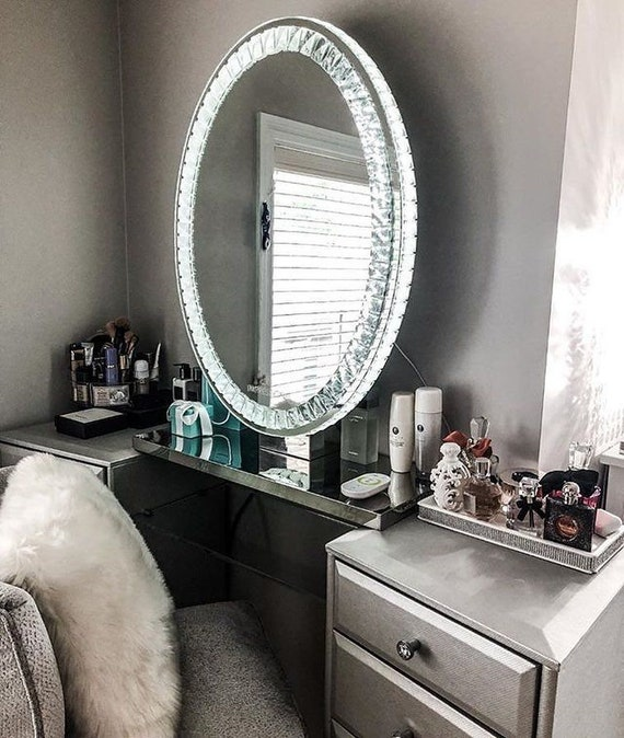 Impressions Vanity Makeup Mirror With Lights And Stand Etsy