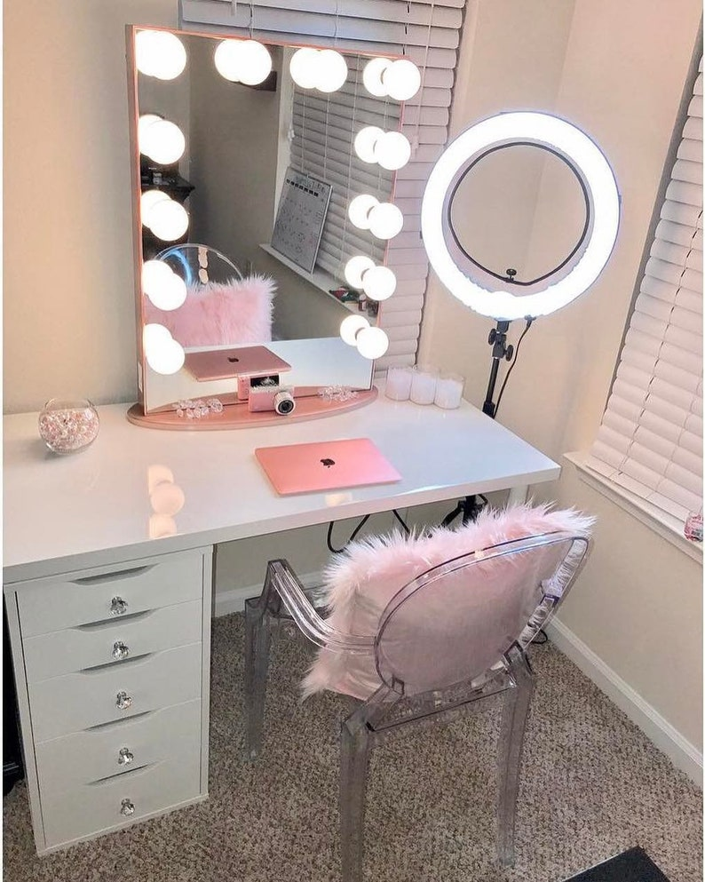 xl hollywood makeup vanity mirror with lights - impressions vanity glow xl  makeup vanity mirror with dimmable lights