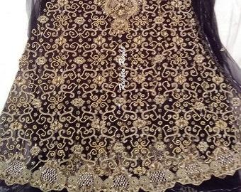 0257cae30c Pakistani Bridal Dress / Heavily Embroidered Peplum / Pakistani Anarkali /  Salwar Kameez / Party Wear / Purple / Heavily Beaded / Custom