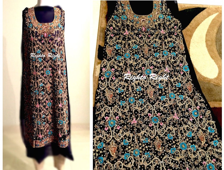 Pakistani Bridal Wedding Guest Dress Heavily Embroidered Etsy