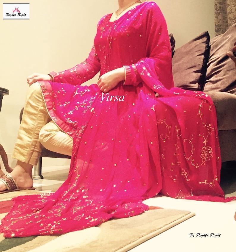 Unique 3D cotton embroidered Salwar Kameez Pakistani Indian suit Party Wear  EID