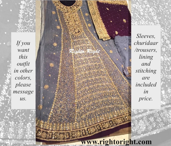 Pakistani Bridal Dress Frock / Maxi Gown Anarkali Wedding Eid   Etsy