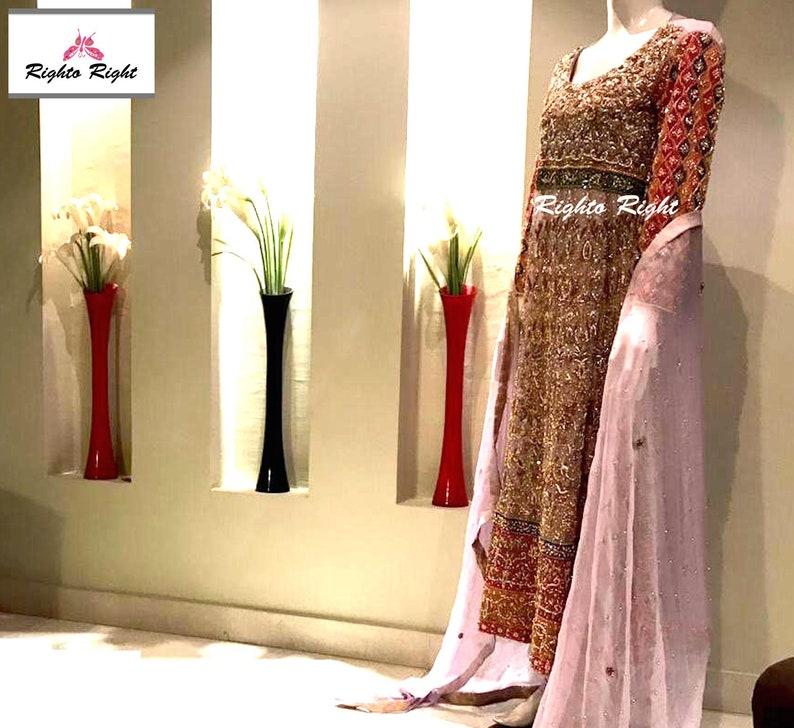 bd5c01fe92 Pakistani Bridal Dress / Wedding Dress / Heavy Embroidery / | Etsy