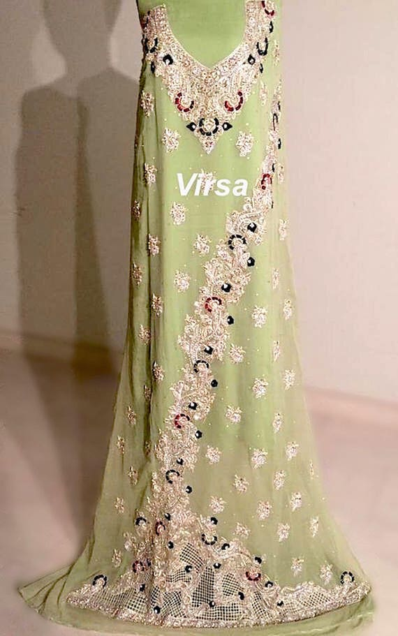 Pakistani Bridal Gown Pakistani Clothes Maxi Gown Indian Etsy