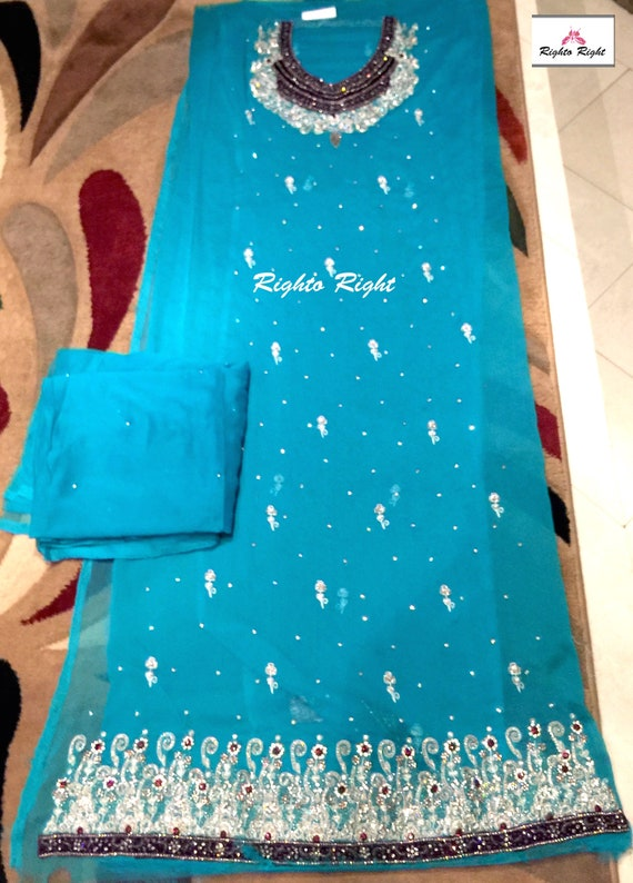 Shipping Any Indian Shalwar Stitched Or Tailored Kameez Pakistani Style Any Wear Customized Unstitched Party Colors Free ZZTwt0q