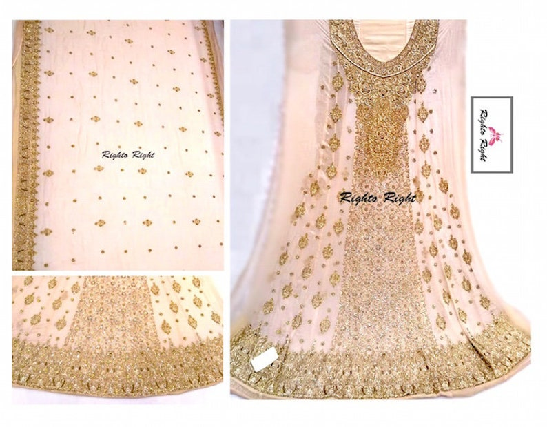 09a63f06bd Pakistani Bridal Dress / Peach Maxi Gown / Bridal Long Frock / Bridal  Anarkali / Custom Made / Indian Bridal / Free Shipping USA