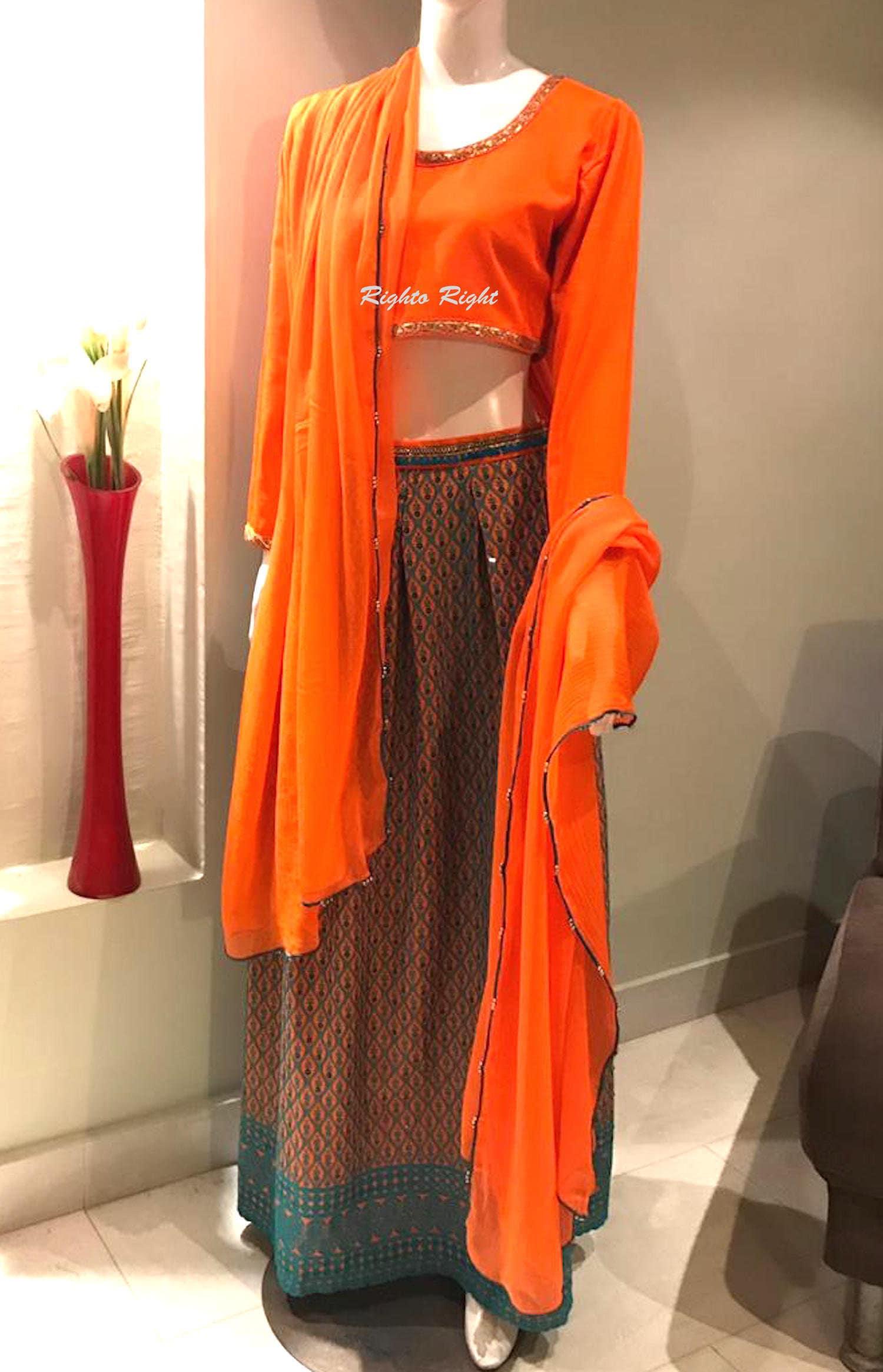 087be60336 Pakistani Lehenga / Indian Wedding Dress / Skirt Blouse / Ready to Ship