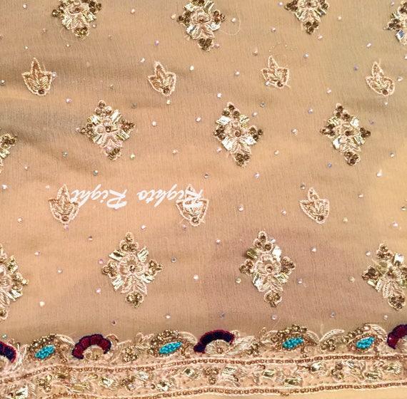 Wear Kameez Brown Indian Custom Light Pakistani Pure Party Punjabi Chiffon Salwar Shalwar Wedding Dress IwxaF