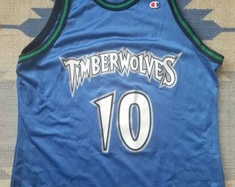 ce9cbdb44 Wally Szczerbiak Vintage Champion Jersey 48 Minnesota Timberwolves XL Rare  90s NBA