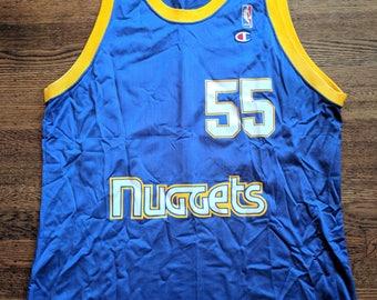 cfeebca6 Dikembe Mutombo Vintage Champion Jersey 48 Rare Denver Nuggets XL NBA 90s