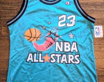 194799b28 Michael Jordan Vintage Champion Jersey 44 All Star Rare NWT Chicago Bulls  NBA