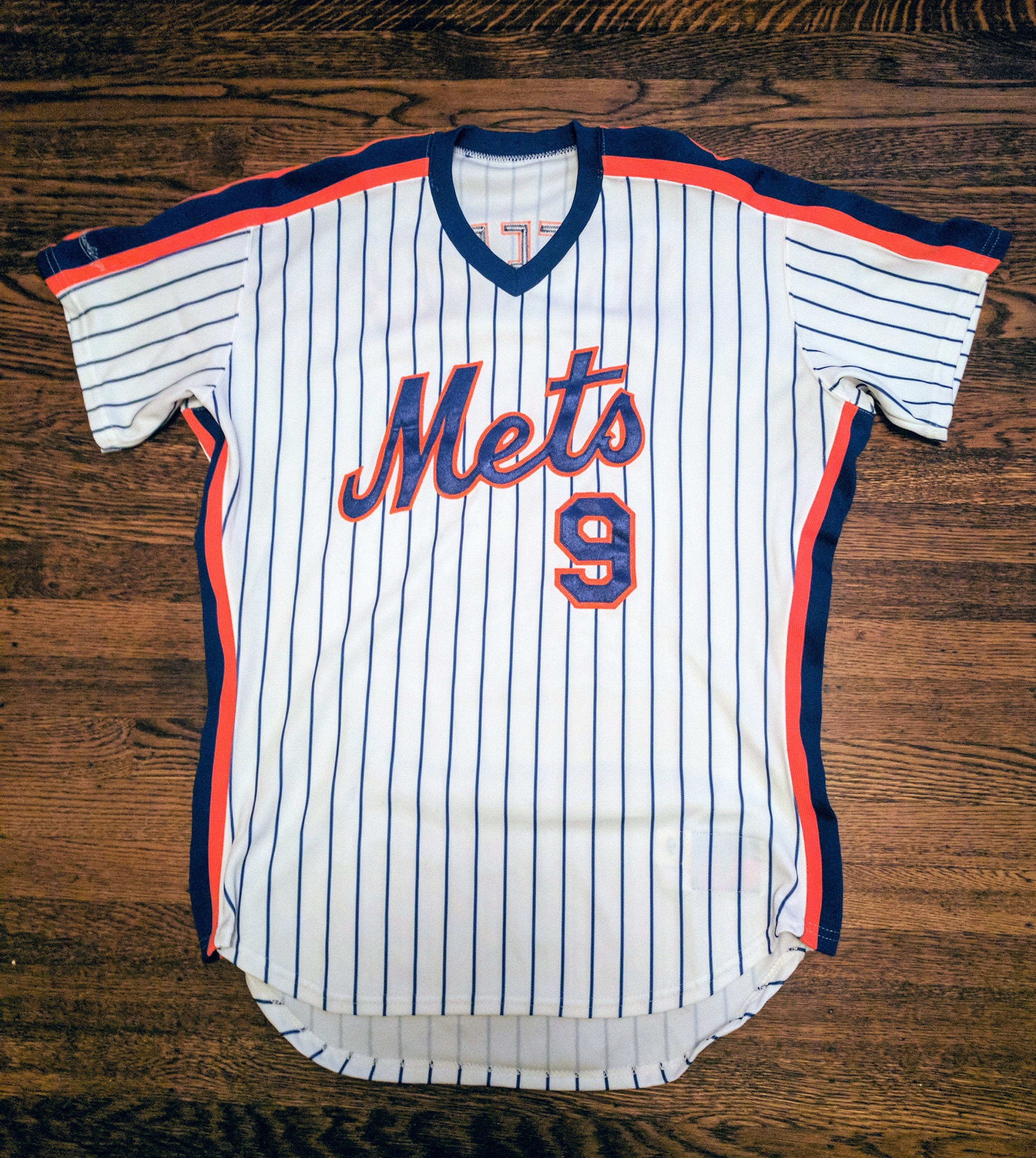 size 40 df9fc 7a2fa Gregg Jefferies Authentic Game Issued New York Mets Jersey 1990 MLB Vintage  Rawlings 44 L