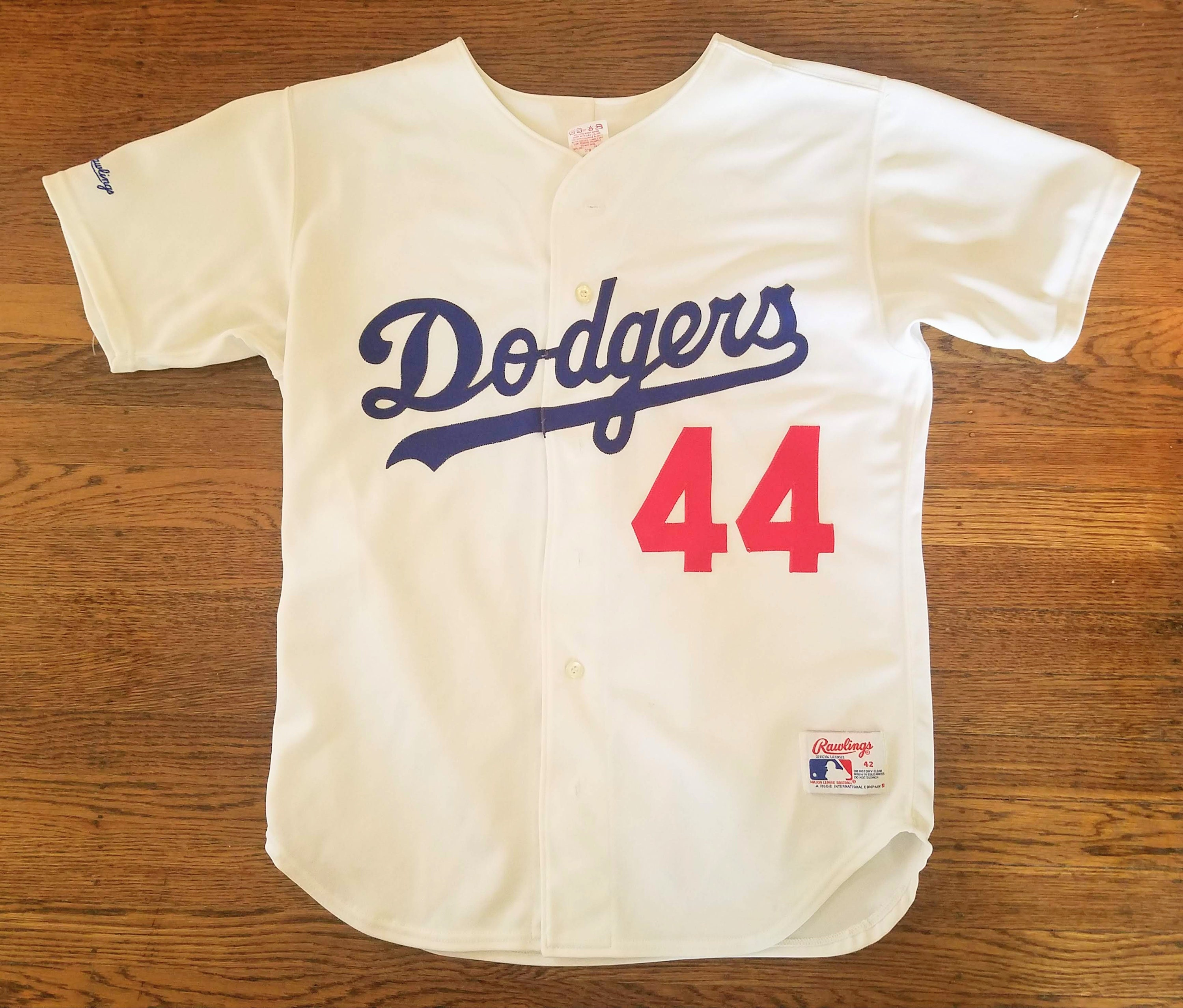 c70a9478570 Darryl Strawberry Authentic Rawlings Jersey 42 M L Dodgers